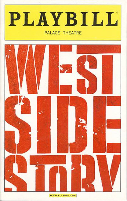 West Side Story (Musical),  Matt Cavenaugh, Josefina Scag, Karen Olivo, Cody Green, George Akram, Palace Theatre (Apr 2009), Curtis Holbrook, Steve Bassett, west side story playbill