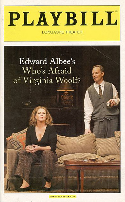 Who's Afraid of Virginia Woolf ? (Play), Bill Irwin, Kathleen Turner, Directed by Anthony Page - Longacre Theatre, Mireille Enoa, David Harbour