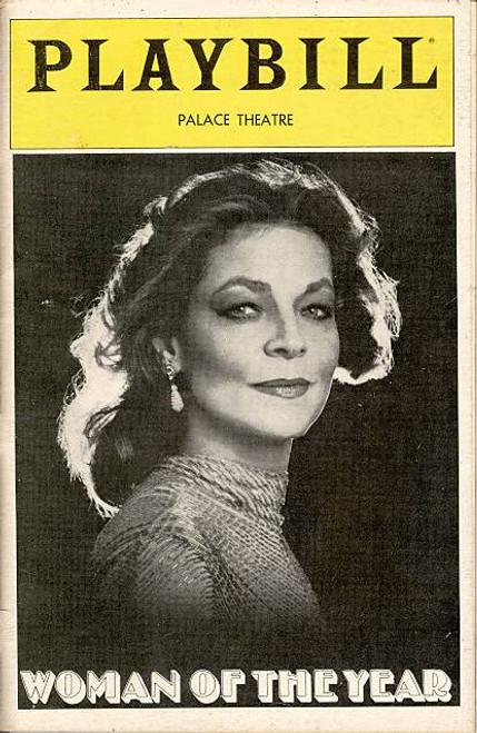 Woman of the Year  (Musical), Lauren Bacall, Harry Guardino, George De La Pena, Grace Keagy, John Hammil - Palace Theatre (Mar 1982)