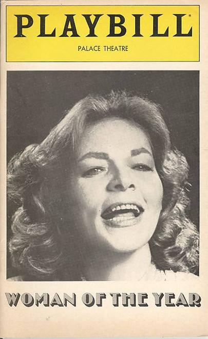 Woman of the Year (Musical), Lauren Bacall, Harry Guardino, Eivin Harum, Grace Keagy, Daren Kelly - Palace Theatre (June 1981)