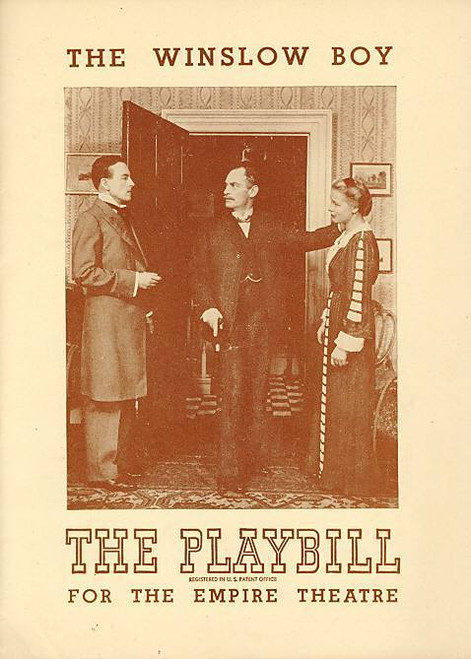 The Winslow Boys - 1948 (Play), Michael Newell, Betty Sinclair, Madge Compton -  Empire Theatre