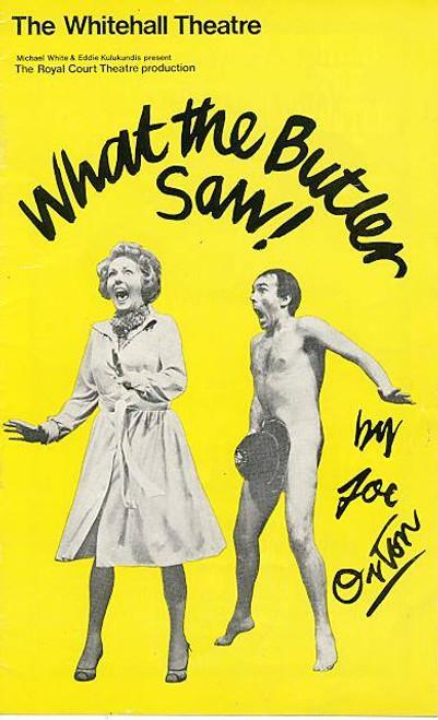 What the Butler Saw (Play) Michael Medwin, Jane Carr, Betty Marsden - Whitehall Theatre London, by English writer Joe Orton, Joe Orton plays, Joe Orton Memortabilia, What the Butler Saw Playbill