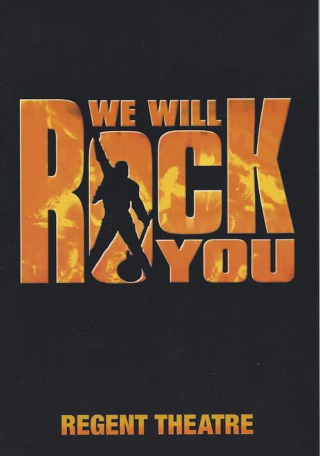 We Will Rock You (Musical), Regent Theatre Melbourne Australia, Souvenir Program 2003 Robert Grubb, Ross Given, Michael Falzon, Kate Hoolihan