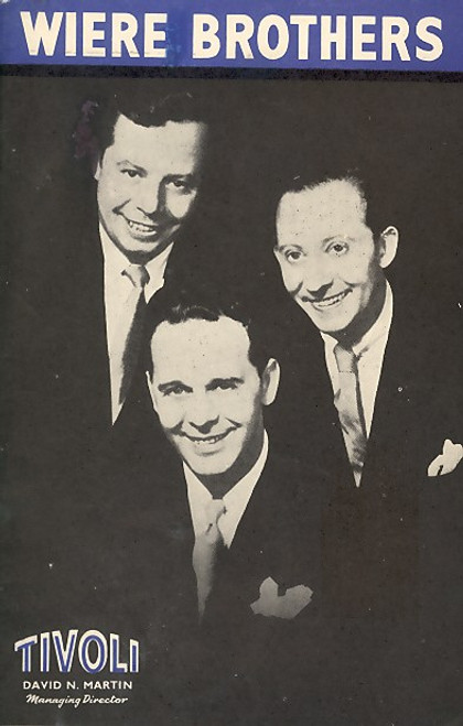 Wiere Brothers (Musical), Wiere Brothers, James Upshaw, Phillida Cooper, Ken Littlewood - Nov 1955 Australian Tour