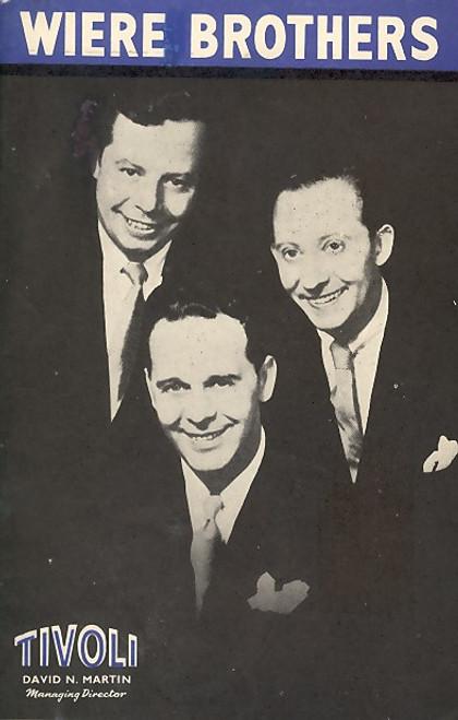 Wiere Brothers (Musical), Wiere Brothers, James Upshaw, Phillida Cooper, Ken Littlewood - Nov 1955 Australian Tour