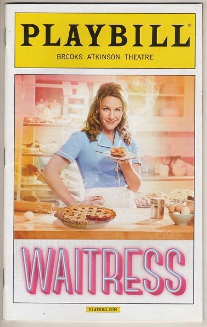 Waitress (Musical), Jessie Mueller,  Eric Anderson, Nick Cordero, Keala Settle, Jenna Ushkowitz,  March 2016 Playbill / Program - OBC