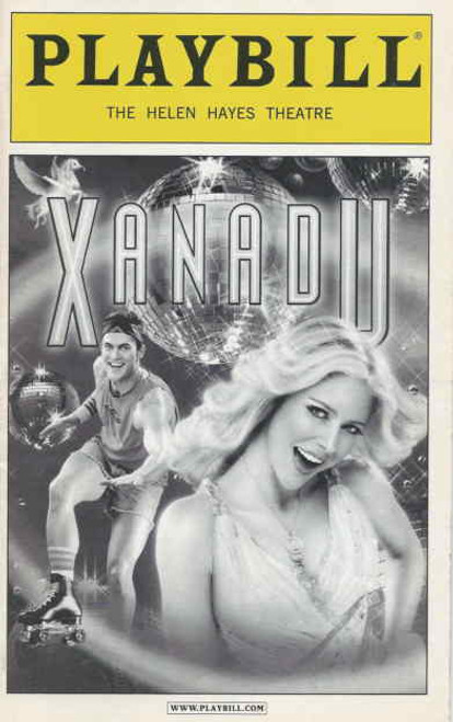 Xanadu Playbill with picture cover - July 2008, Kerry Butler - Curtis Holbrook, Kerry Butler, James Carpinello, Tony Roberts, Jackie Hoffman, Mary Testa