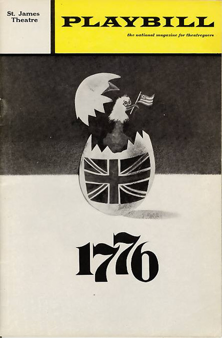 1776, St James Theatre, Playbill / Program Feb 1971 - William Daniels, David Ford, John Cullum, Edmund Lyndeck, Betty Buckley, Roy Cooper
