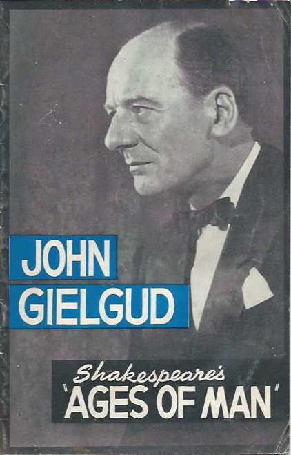Shakespeare's Ages of Man (Play) John Gielgud, Theatre Royal Sydney 1963  Playbill / Program (Rare)