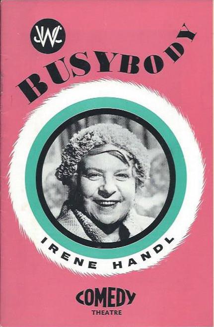 Bustbody (Play), Irene Handl, Malcolm Phillips, Blair Edgar, Ken Fraser, Penelope Shelton, Comedy Theatre Melbourne 1966  Playbill / Program