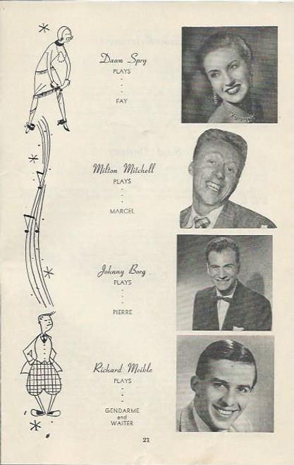 The Boy Friend (Play) Marie Tysoe, John Parker, Beth Dean Elizabethan Theatre  Sydney 1956  Playbill / Program