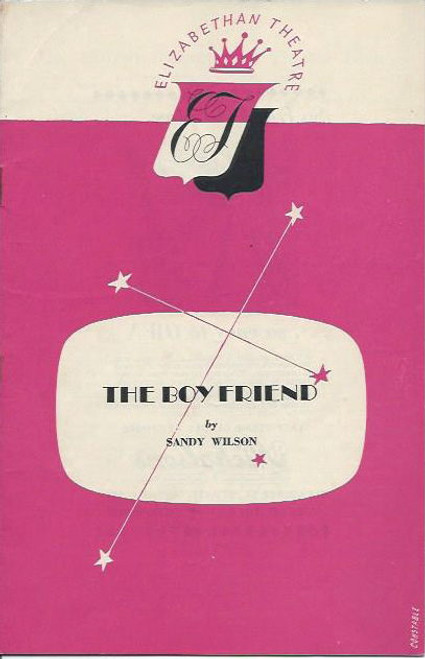 The Boy Friend (Play) Marie Tysoe, John Parker, Beth Dean Elizabethan Theatre  Sydney 1956  Playbill / Program