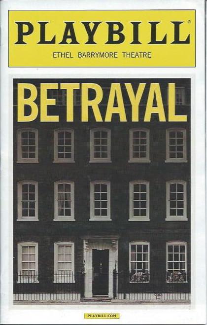 Betrayal (Play), Daniel Craig, Rachel Weisz, Rafe Spall, Harold Pinter, Playbill/ Program Date Oct 2013