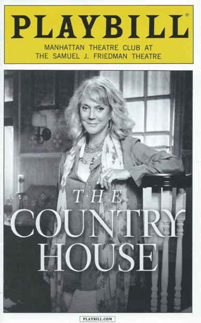 The Country House (Sept 2014), Playbill, Country House Playbills, Blythe Danner, Daniel Sunjata, Sarah Steele, Eric Lance, Kate Jennings Grant Directed by Daniel Sullivan