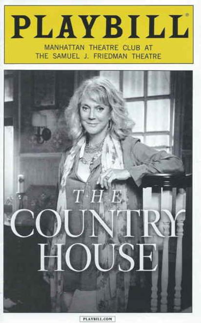 The Country House (Sept 2014), Playbill, Country House Playbills, Blythe Danner, Daniel Sunjata, Sarah Steele, Eric Lance, Kate Jennings Grant Directed by Daniel Sullivan