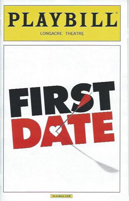 First Date (Musical), Zachary Levi, Krysta Rodriguez, Sara Chase, Bryce Ryness (2013) Playbill/ Program Date Sept 2013