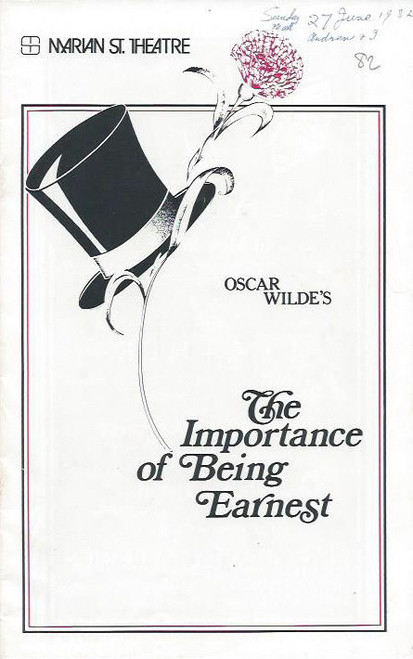 The Importance of Being Earnest (Play) Patricia Kennedy John Gregg– Australian 1982 Production, Patricia Kennedy, John Gregg, Lynette Curran, Craig Ashley, Louise Le Nay, Barbara Wyndon, Alan Tobin, Redmond Phillips, David Cahill, Peter Collingwood, Graham Maclean