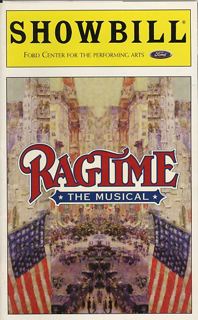 Ragtime is a musical with a book by Terrence McNally, lyrics by Lynn Ahrens, and music by Stephen Flaherty. Based on the 1975 novel by E. L. Doctorow