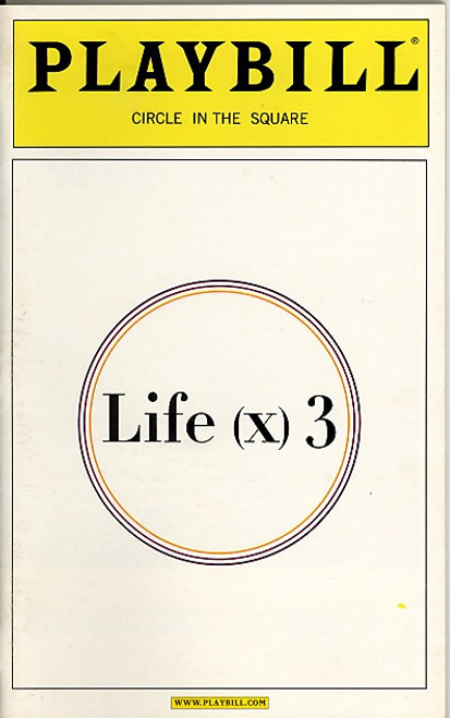 Life (x) 3 (Apr 2003 Play)  Helen Hunt, John Turturro, Brent Spiner, Linda Emond, Stephen Lee Anderson - Circle in the Square
