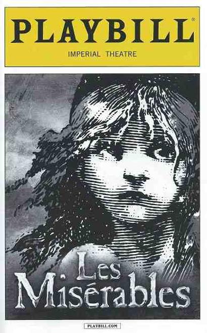 Les Miserables (Musical) Playbill April 2015 Ramin Karimloo, Will Swenson, Tyler Murree, Alan Shaw, Sam Chuck, Athan Sporer, Christianne Tisdale, Richard Barth, Adam Monley
