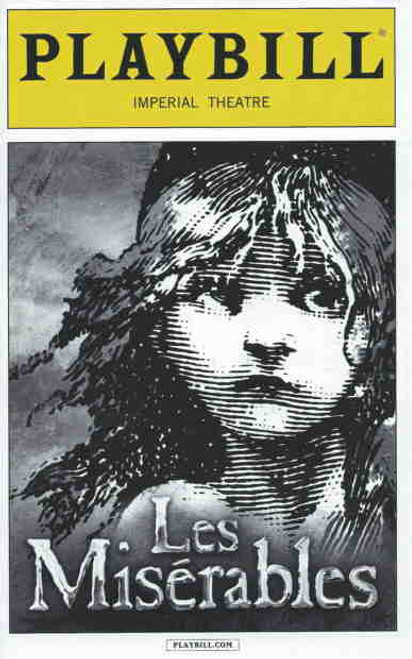 Les Miserables (Sept 2014), Ramin Karimloo, Earl Carpenter, Dennis Moench, Chris Mccarrell, Andrew Kober, Andy Mientus Playbill/Program: Sept 2014