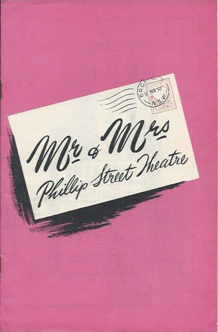 Mr and Mrs Phillip Street Theatre (Musical Revue), Barry Humphries, Brenda Humphries, Phillip Street Theatre  Sydney   Playbill / Program
