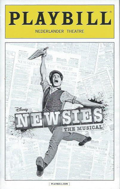 Newsies (Musical), Corey Cott, Andy Richardson, Giuseppe Bausilio, Daniel Quadrino, John Michael Fiumara, Playbill/ Program Date Oct 2013