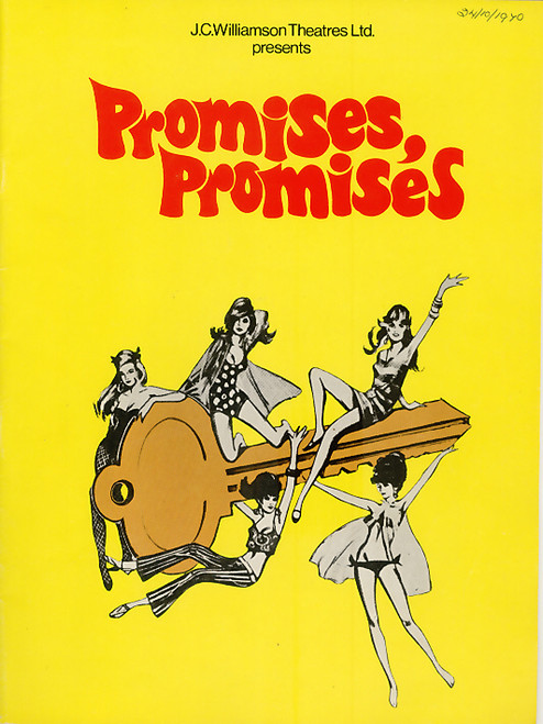 Promises, Promises (Musical) Orson Bean, Ann Hilton,Nancye Hayes, Her Majesty's  Theatre Melbourne 1970  Playbill / Program