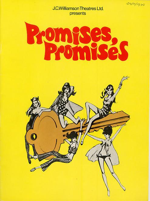Promises, Promises (Musical) Orson Bean, Ann Hilton,Nancye Hayes, Her Majesty's  Theatre Melbourne 1970  Playbill / Program