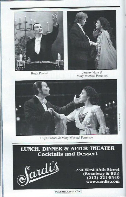 Phantom of the Opera (Sept 2012)  Playbill Hugh Panaro, Trista Moldovan, Kyle Barisich– Majestic Theatre