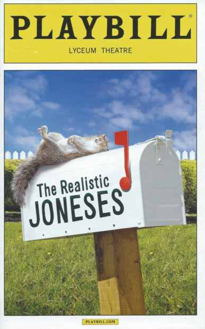 The Realistic Joneses ( May 2014), Playbill, Toni Collette, Michael C Hall, Tracy Letts, Marisa Tomei