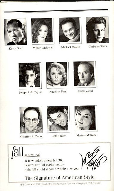 Side Man (Jul 1999), Playbill, Program, Scott Wolf, Edie Falco, Angelica Torn, Marissa Matrone, Frank Wood, Joseph Lyle Taylor, Michael Mastro, Kevin Geer