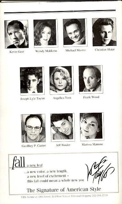 Side Man (Jul 1999), Playbill, Program, Scott Wolf, Edie Falco, Angelica Torn, Marissa Matrone, Frank Wood, Joseph Lyle Taylor, Michael Mastro, Kevin Geer