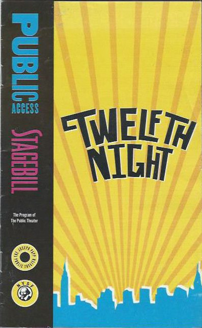 Twelfth Night (Play) Jimmy Smits, Al Espinosa, Andrew McGinn Playbill / Playbill  Joseph Papp Theater Public Access