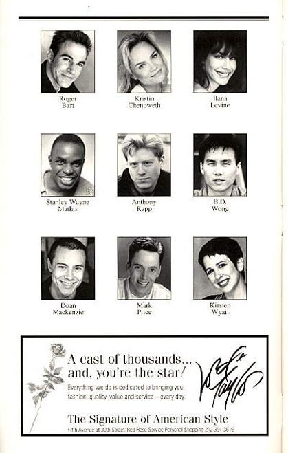 You're a Good Man, Charlie Brown  (Musical), Playbill,  Anthony Rapp, Kristin Chenoweth, Roger Bart, Ambassador Theatre (Feb 1999)