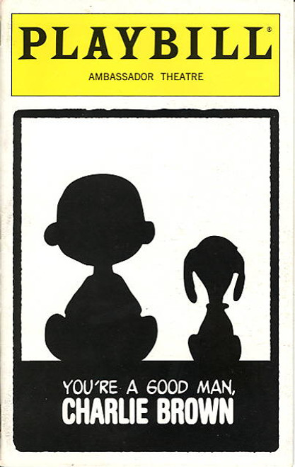 You're a Good Man, Charlie Brown  (Musical), Playbill,  Anthony Rapp, Kristin Chenoweth, Roger Bart, Ambassador Theatre (Feb 1999)