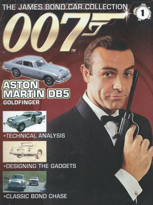 James Bood (Movie) 1964  Goldfinger Sean Connery, Honor Blackman, Harold Sakata Souvenir Magzine James Bond Car Collection Number 1 DB5