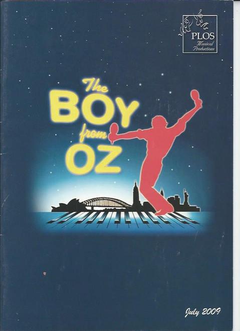 The Boy from Oz (Musical) Steven Rostron, James Peter, Shirley Bowen, Liz Catford - 2009 Program Size 210 x 295 mm Australian Production