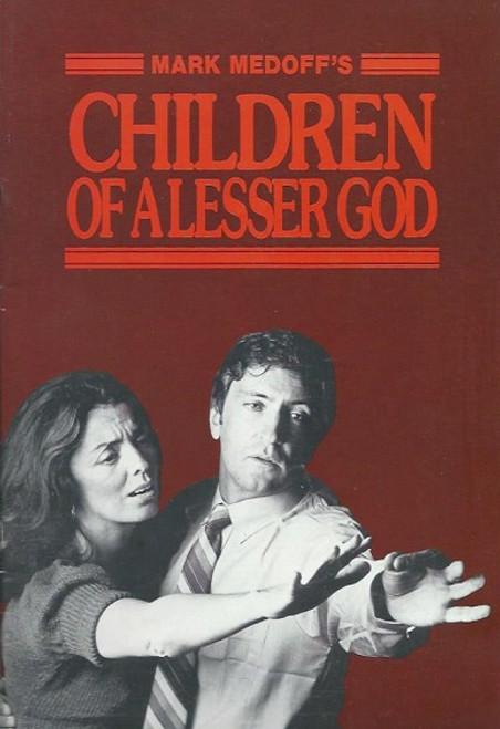 Children of a Lesser God (Play) John Waters, Elizabeth Quinn - Australian 1984 Production  Children of a Lesser Godis a play by Mark Medoff
