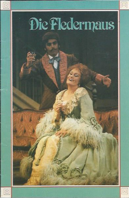 Die Fledermaus (Opera) Opera in the Park 1983 Souvenir Program - Joan Sutherland, Paul Ferris, Jennifer McGregor, Ron Stevens