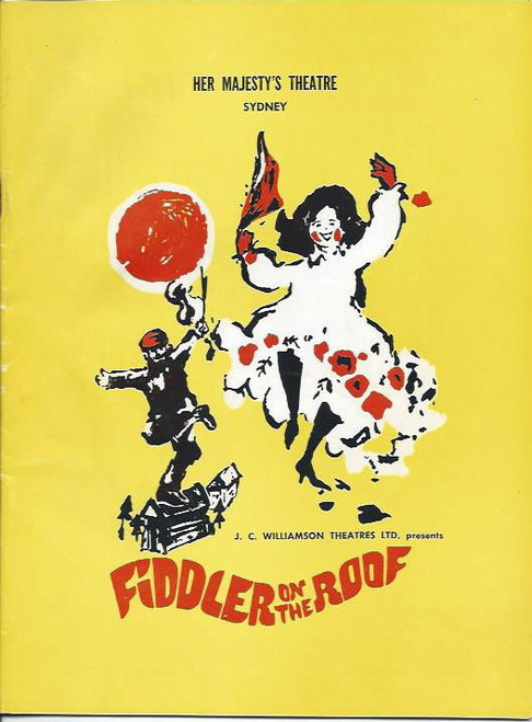 Fiddler on the Roof (Musical) August 1968 Hayes Gordon, Brigid Lenihan, Max Bruch, Margaret Christensen - Her Majesty's Theatre Brisbane Australia
