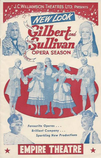 Gilbert and Sullivan Opera Season Grahame Clifford, Muriel Brunskill, Helen Roberts, Terence O'Donoghue Program / Playbill Empire Theatre Sydney Australia 1957