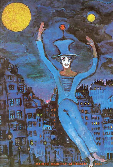 Marcel Marceau - (Mime) Acclaimed French actor and mime - 1981 Australian Tour