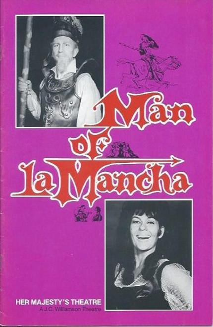 Man of La Mancha (Musical) Charles West, Suzanne Steele, Ernie Bourne Australian Premiere Sat 24th April 1976 Melbourne Season with News Paper Clips