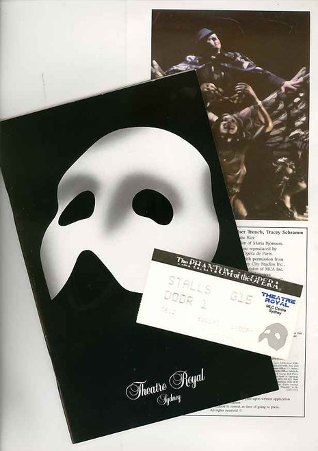 The Phantom of the Opera (Musical) Rob Guest, Danielle Everett, Dale Burridge 1994 Australian Production Sydney