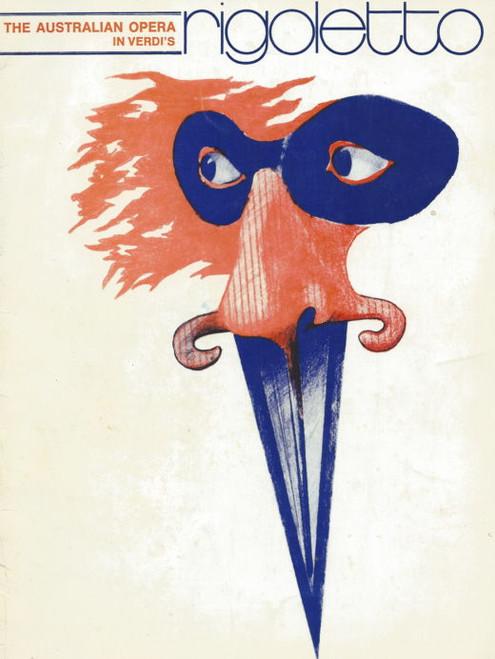 Rigoletto (Opera) Henri Wilden, Reginald Byers, Graeme Ewer, Souvenir Flyer  Australian Opera 1972 Melbourne Season