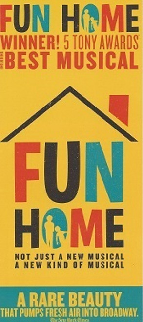 Fun Home by Lisa Kron, Jeanine Tesori, Flyer 2015 Circle in the Square