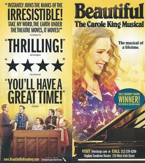 Beautiful the Carole King Musical, book is by Douglas McGrath, Producer Paul Blake announced that a musical version of King's music and life would be presented on stage, titled Beautiful