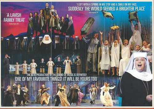 The Sound of Music Flyer Australian Tour 2016 Staring Cameron Daddo and Amy Lehpamer