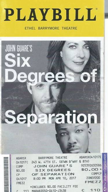 "Six Degrees of Separation explores the existential premise that everyone in the world is connected to everyone else in the world by a chain of no more than six acquaintances, thus, ""six degrees of separation"""